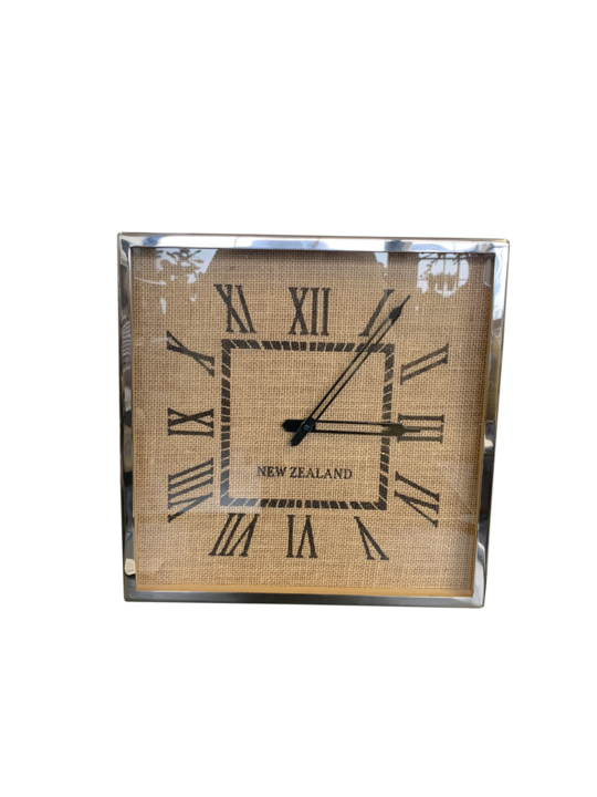 NEW ZEALAND JUTE DETAIL WALL CLOCK