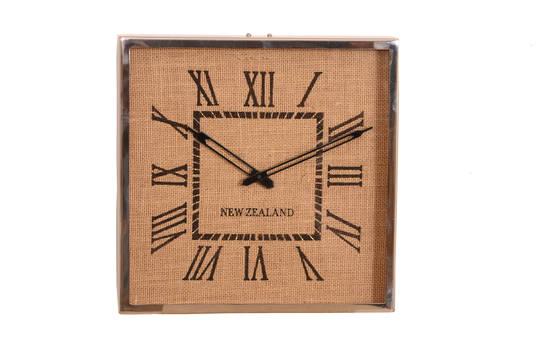 NEW ZEALAND JUTE DETAIL WALL CLOCK