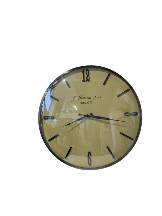 DOME GLASS WALL CLOCK