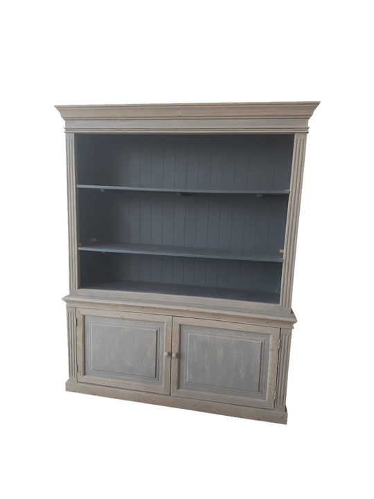 *DISTRESSED RECYCLED PINE FARMHOUSE CABINET GREY,DK BLUE