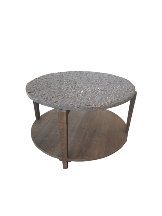 *COFFEE TABLE WITH HANDCRAFTED BLUESTONE TOP