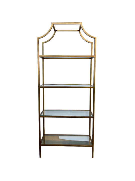THE GATSBY BOOK SHELF LIGHT BRASS