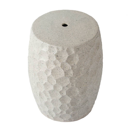 CERAMIC STOOL WITH CRATER DETAIL