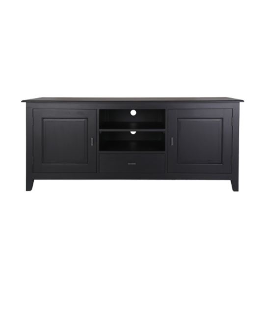 MIAMI MEDIA UNIT BLACK 1 DRAWER / 2 CUPBOARDS