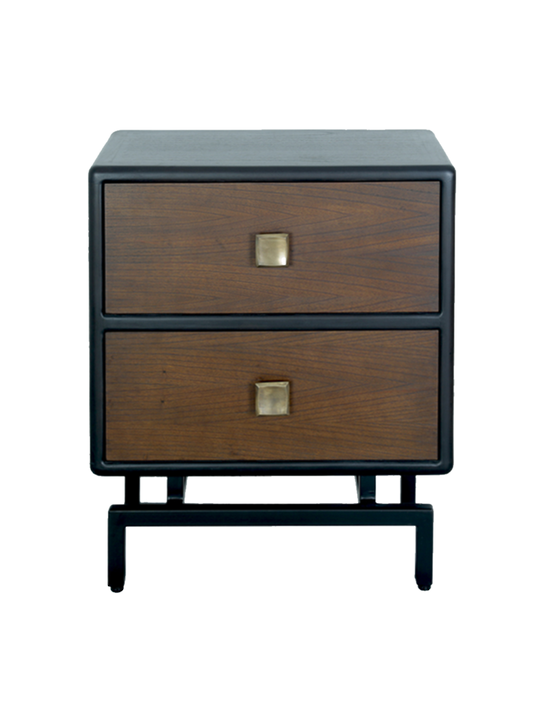 NY 2 DRAWER BEDSIDE TABLE
