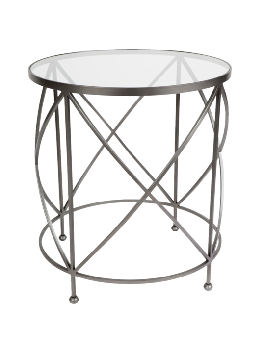 CHICAGO SIDE TABLE SILVER CROSS BASE LGE