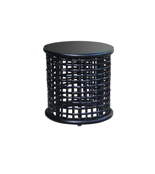 LONG ISLAND SIDE TABLE WITH RATTAN