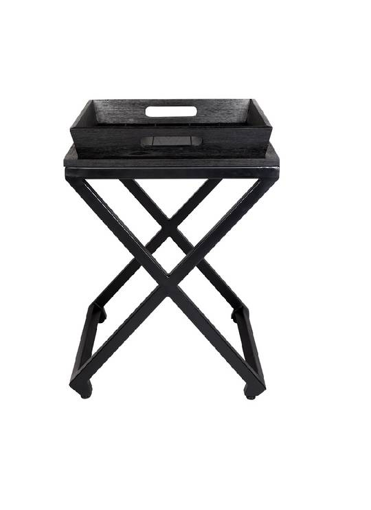 CHICAGO SIDE TABLE W/REMOVABLE TRAY BLACK