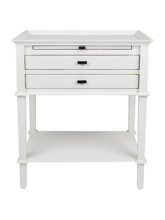 ISLAND LIFE SIDE TABLE WITH 2 DRAWERS WHITE