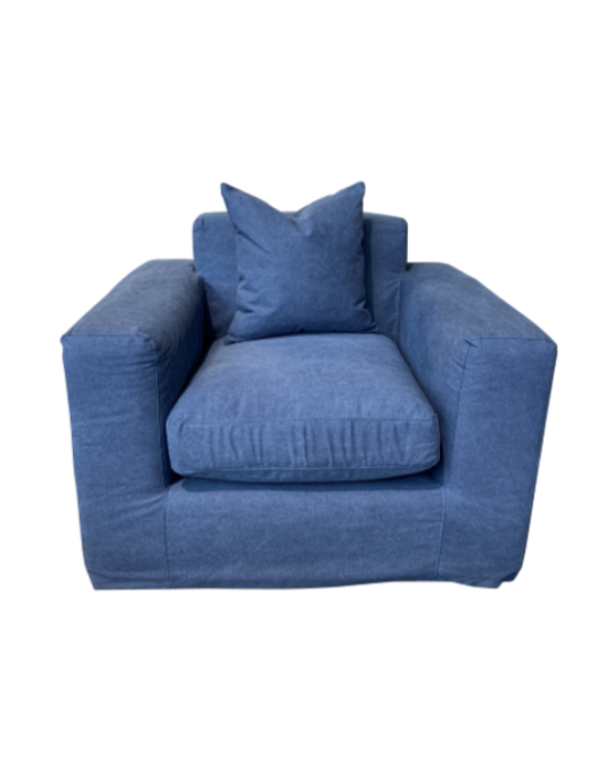 JESSICA SOFA 1 SEATER BLUE