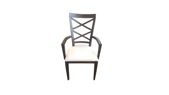 DOUBLE CROSS BACK ARM CHAIR DARK