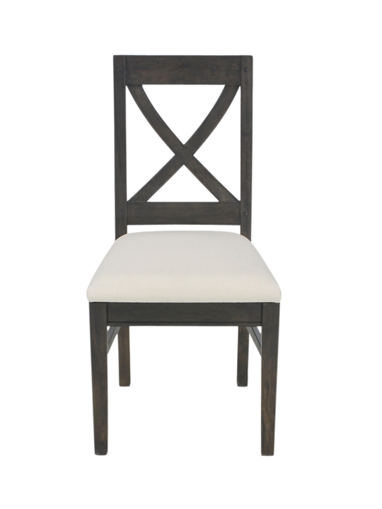 SINGLE CROSS BACK CHAIR MANGO BROWN