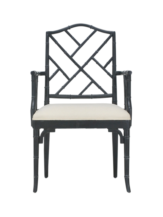 CHINOISE ARM CHAIR GRAPHITE BLACK