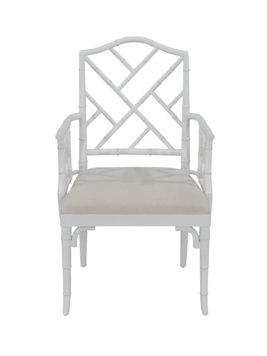CHINOISE ARM CHAIR MATT WHITE