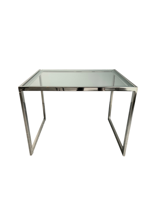 STEEL SIDE TABLE NKL FINISH