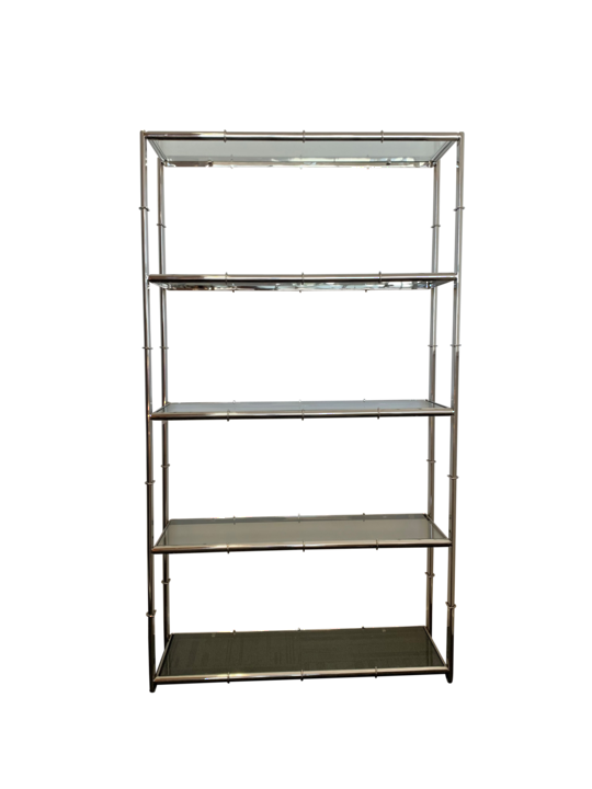 *STEEL HALF BAMBOO RACK WITH 8MM TOUGHEND GLASS