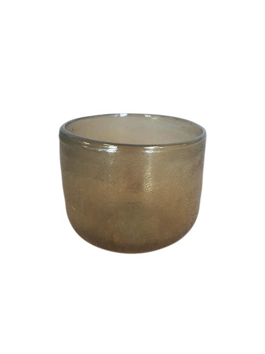 AMBER LUSTRE GLASS 8CM - MIN 6