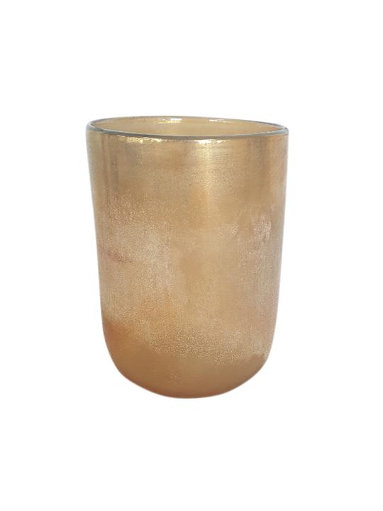 AMBER LUSTRE GLASS 22CM - MIN 2