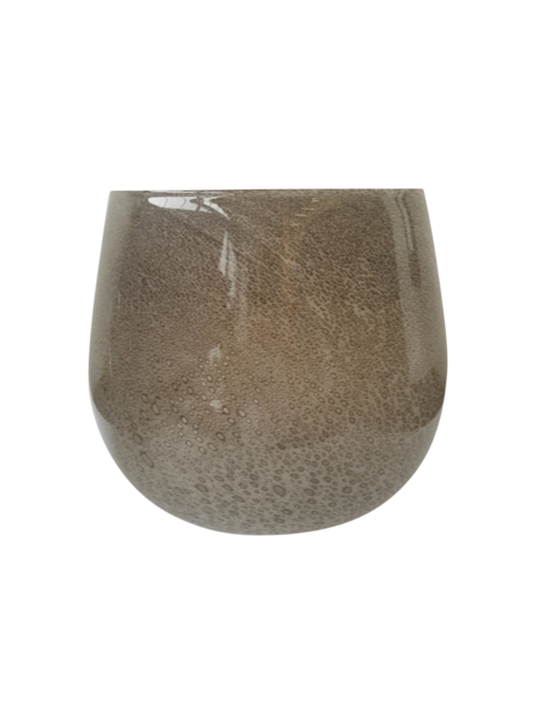 LAVA BUBBLE GLASS TAUPE SMALL 20CM - MIN 2