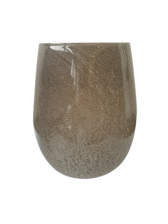 LAVA BUBBLE GLASS TAUPE LARGE 32CM - MIN 2