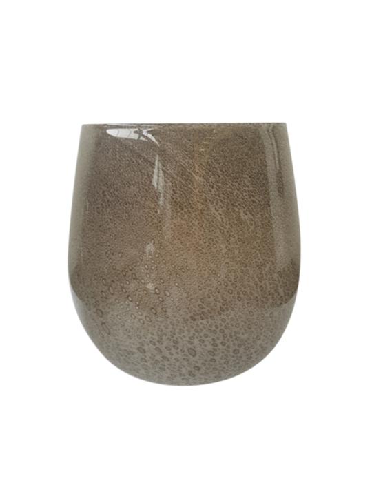 LAVA BUBBLE GLASS TAUPE MED 27CM - MIN 2