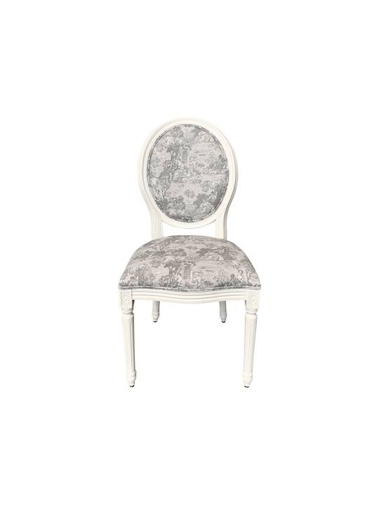 TOILE DESIGN BALLOON BACK CHAIR