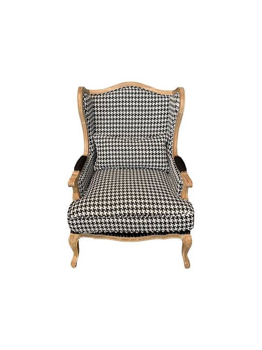 HOUNDSTOOTH BLACK & WHITE OCCASIONAL CHAIR