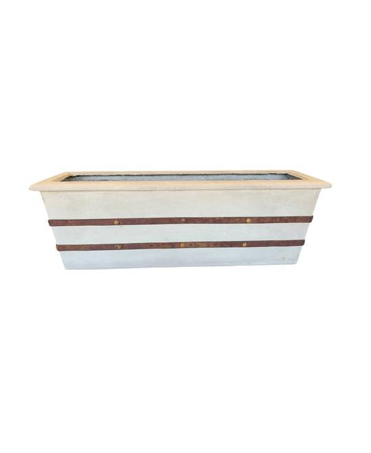 LA TERRE RECTANGULAR PLANTER LIMEWASH