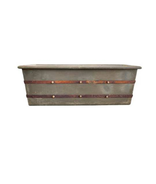 LA TERRE RECTANGULAR PLANTER FOSSIL