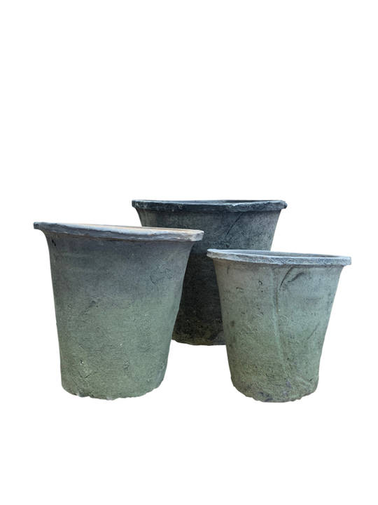 ANTIQUED BLACKSTONE AZALEA POT SET 3