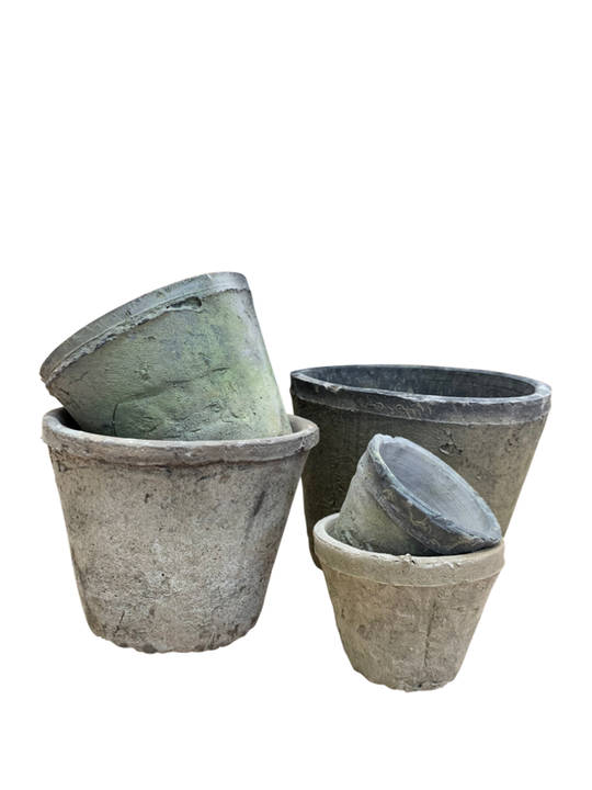 ANTIQUED BLACKSTONE CACUTS POT SET 5