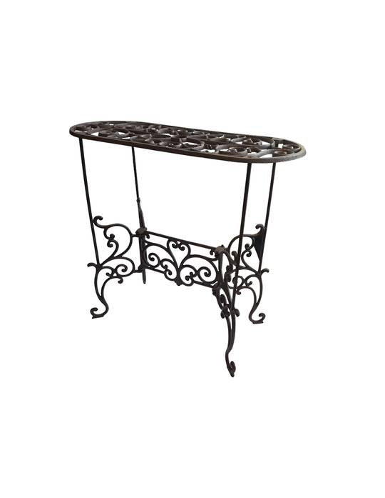 SCROLL CONSOLE OVAL TOP