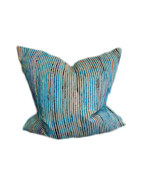 *PILLOW LOLOI P0242 BLUE/MULTI - COVER ONLY