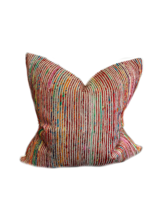 *PILLOW LOLOI P0242 RED/MULTI - COVER ONLY