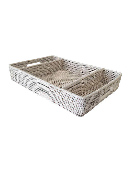 CUTLERY TRAY WITH 3 COMPARTMENTS