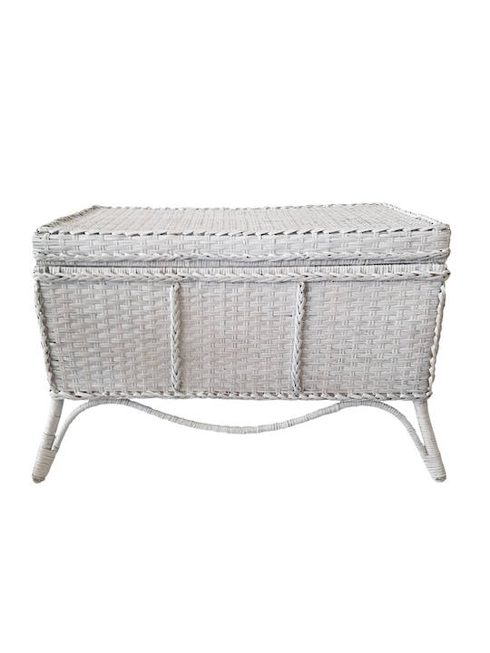 RATTAN COLONIAL STORAGE CHEST