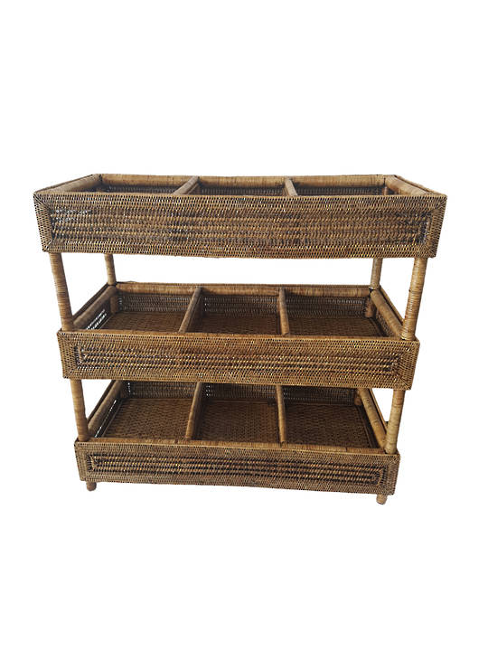 STORAGE TABLE WITH 9 DROP TRAYS