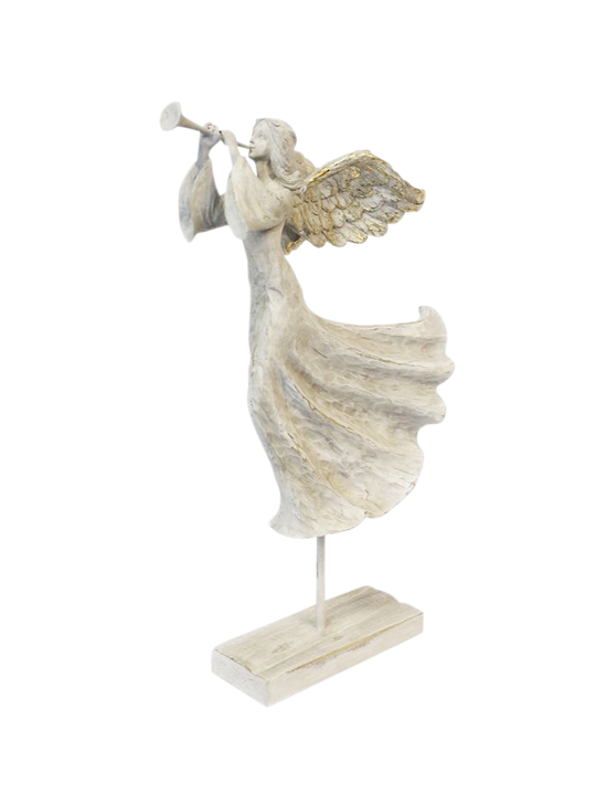 FLOATING RESIN ANGEL W/TRUMPET