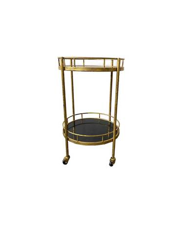 ANTIQUE BRASS TROLLEY MARBLE TOPS