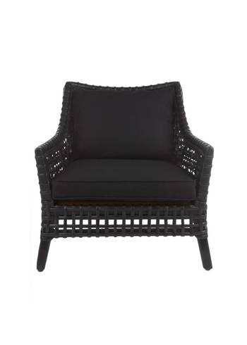 LONG ISLAND EASY CHAIR WITH RATTAN