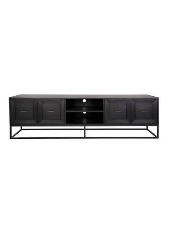 CHICAGO MEDIA UNIT 4 DRAWERS WITH METAL FRAME