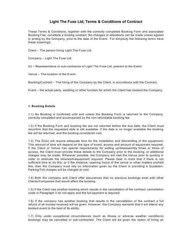 LTFL Booking Form T&C's2