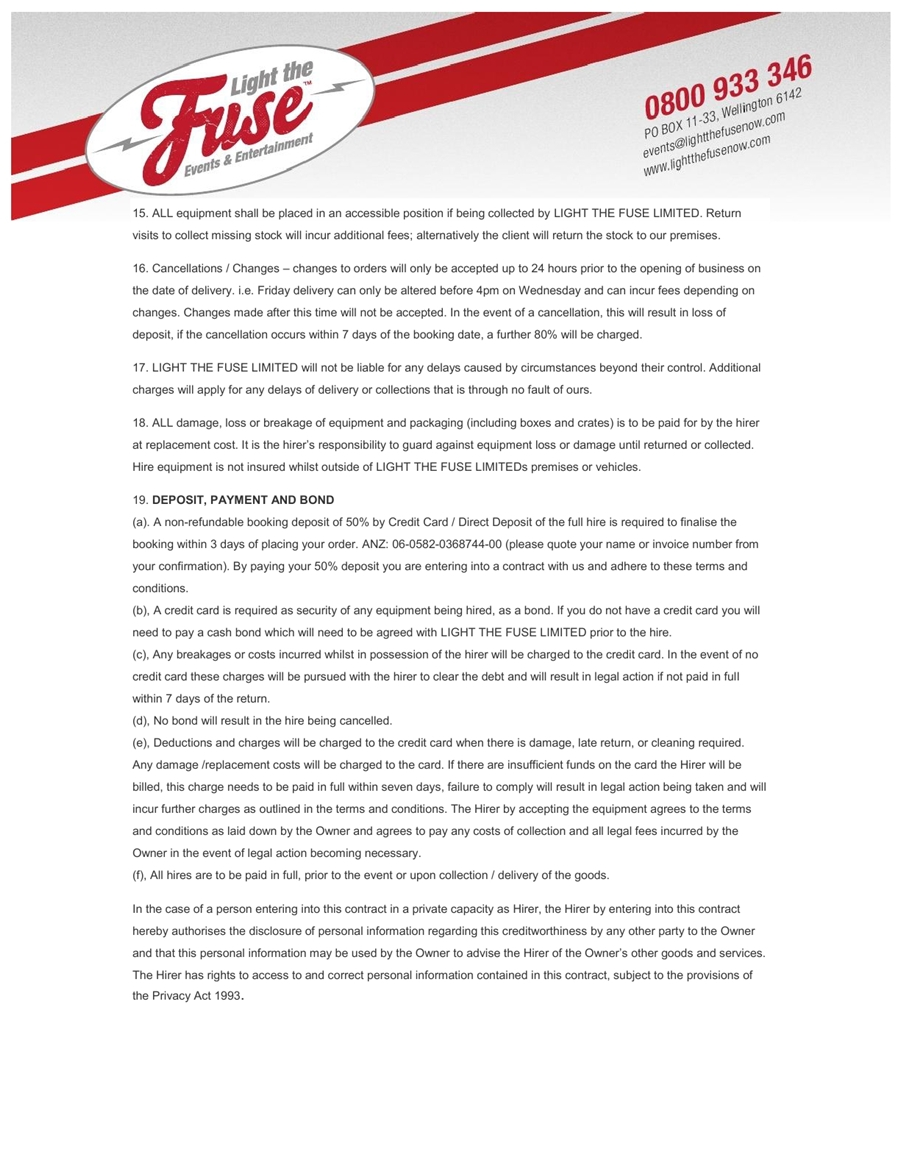 LTFL Equipment Hire Terms & Conditions3