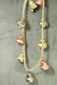 100CML GOLD/ROSE GOLD/ SILVER METAL BELL GARLAND