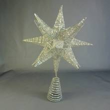 3D WHITE MESH STAR TREE TOPPER