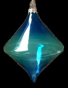BLUE GLASS DIAMOND HANGER (6)