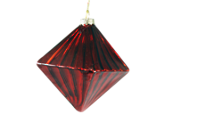 RED GLASS DIAMOND HANGER (12)