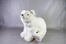 LARGE FURRY WHITE POLAR BEAR SITTING