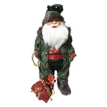 60CMH STANDING SANTA IN GREEN ROBES
