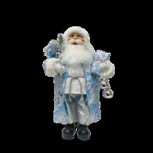 40CMH STANDING SANTA IN BLUE WHITE